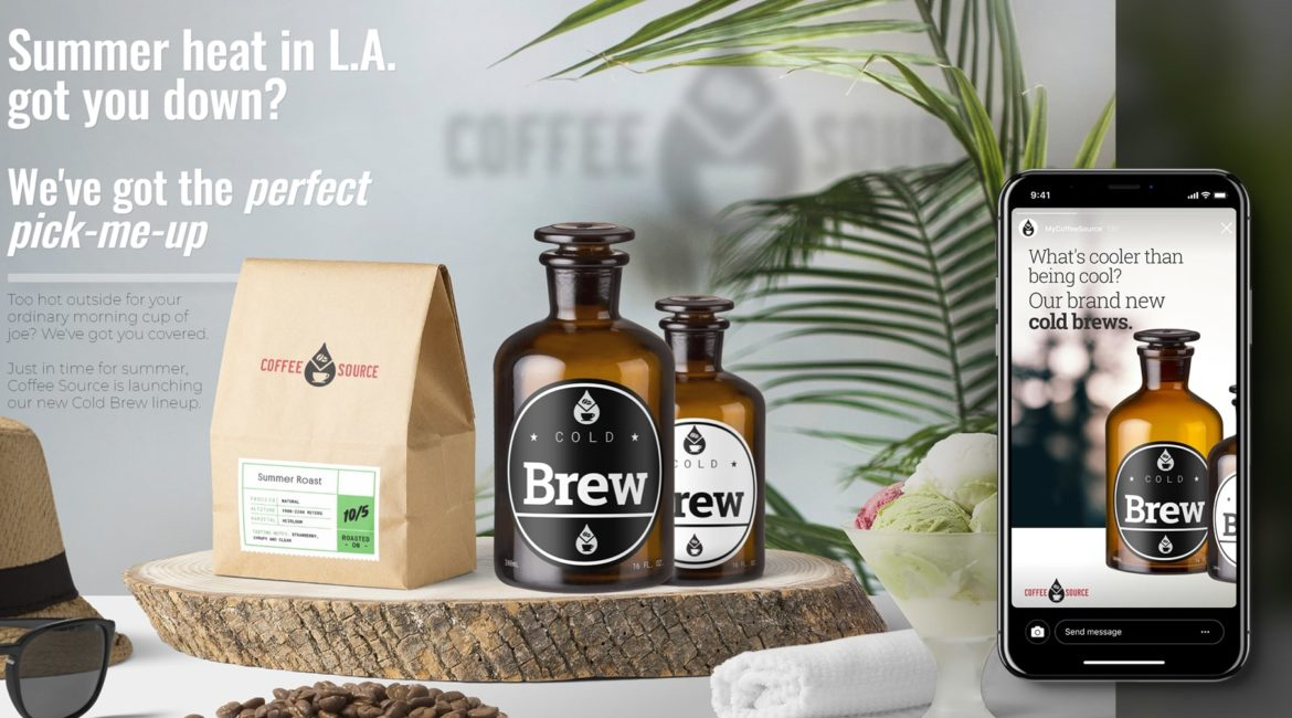 Summer Seasonal Promotion for Cold Brew | Creative Campaign for Coffee Source
