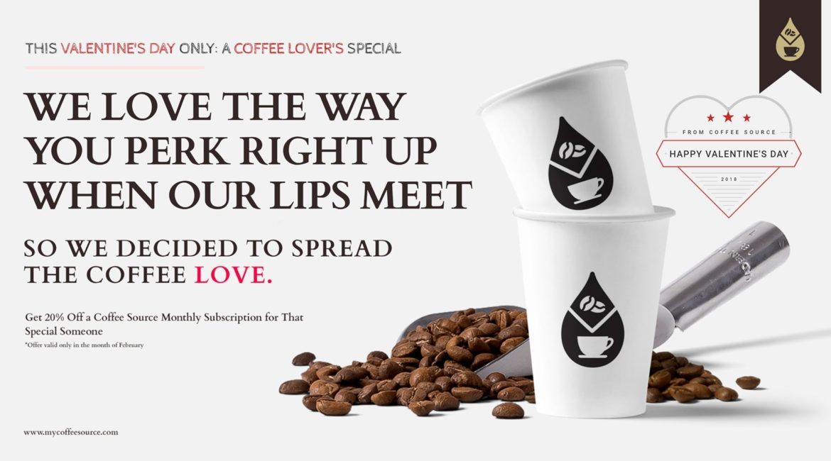 Valentine's Day Promotion | Creative Campaign for Coffee Source