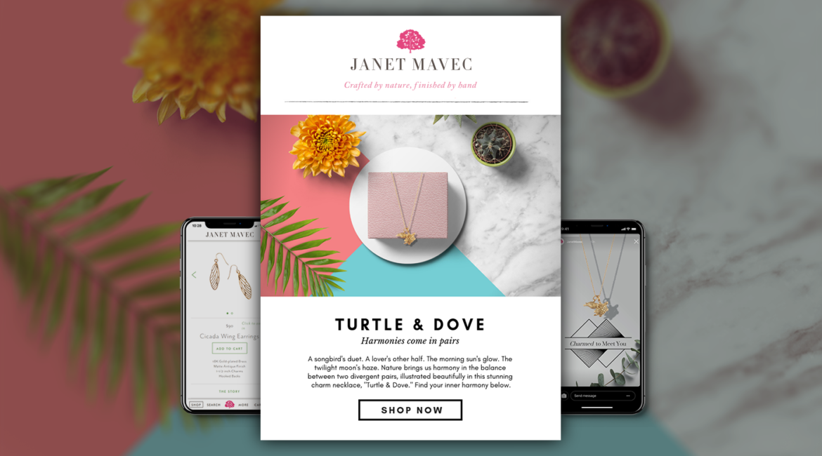 """Email Marketing Campaign and Product Copy for Janet Mavec Jewelry 